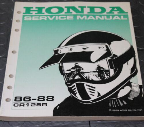 NOS OEM Honda Service Shop Manual NEW 86-88 CR125R CR 125 R