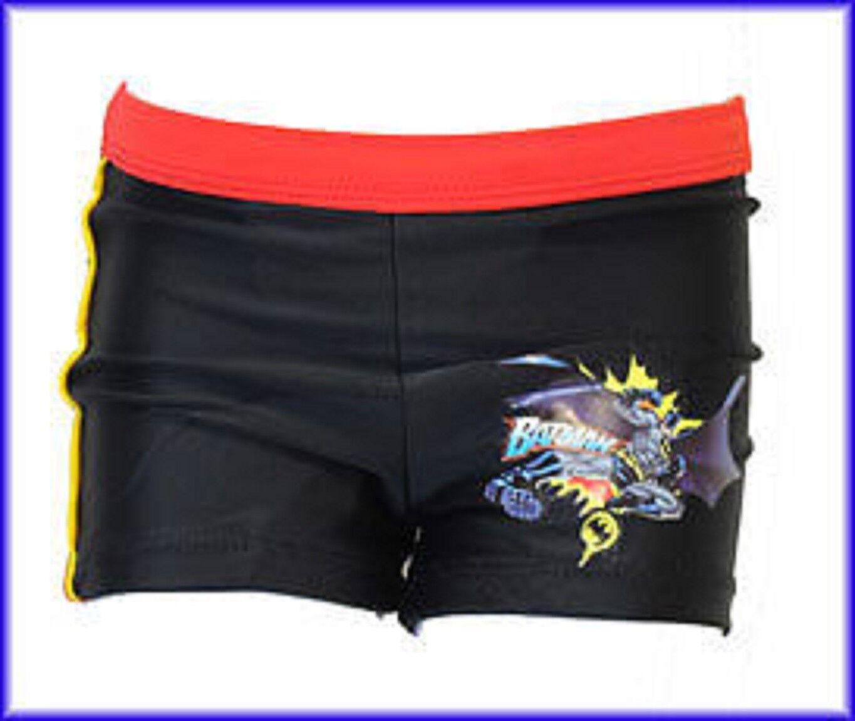 Jungen Offiziell schwarz/rot Batman Badehose Boxershorts - Alter 3,4 Jahre