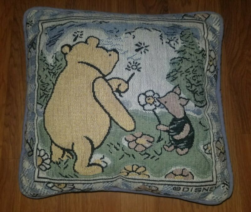 """Vintage Disney Winnie the Pooh Accent Throw Pillow Tapestry 12"""""""