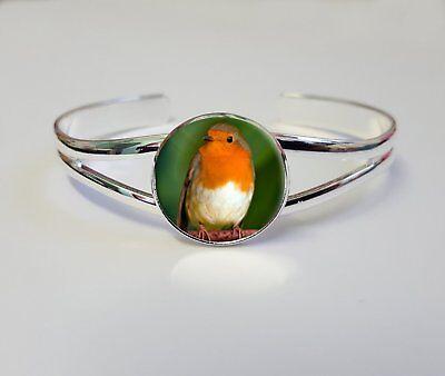 Robin Bird On A Silver Plated Bracelet Bangle Costume Birthday Gift - Robin Bird Costume