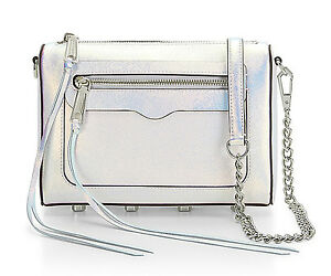 NWT-Rebecca-Minkoff-Mini-Avery-Silver-Opal-Iridescent-Leather-Crossbody-Clutch