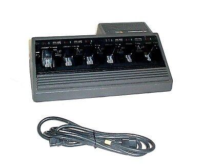 Motorola Ntn1177c 6 Bay Portable Radio Battery Gang Charger Wac Power Cord