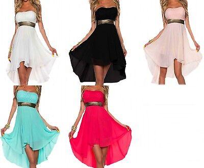 Damen Kleid Club Sommer Festlich Abend Chiffon Party Cocktailkleid kurz