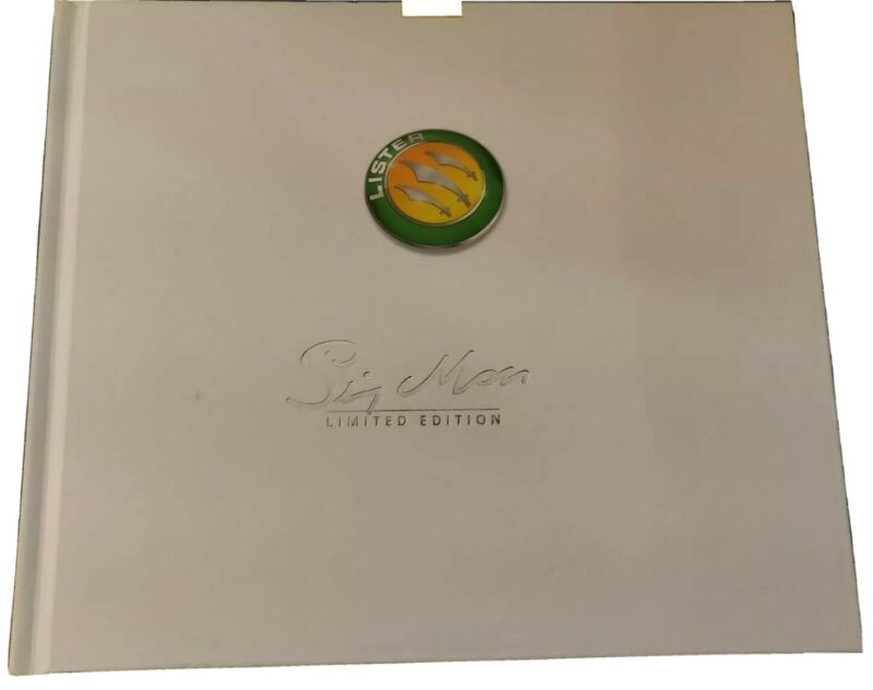 Lister Stirling Moss limited edition brochure hardcover book, 35 pages