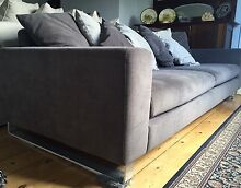 Deep 3 seater fabric sofa Northcote Darebin Area Preview