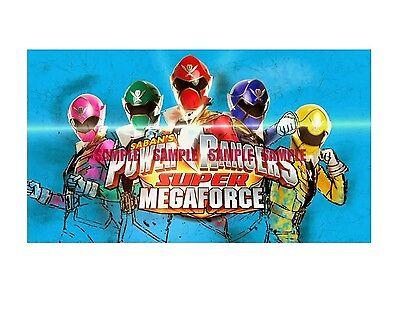 Power Rangers Super Mega Edible Birthday Cake Topper Frosting Icing 1/4 Sheet