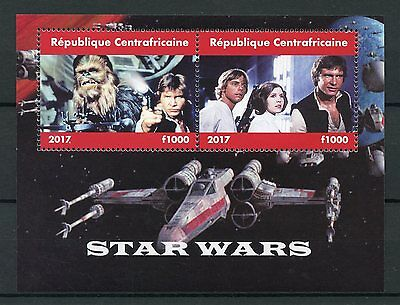 Central African Rep 2017 MNH Star Wars Han Solo Luke Skywalker 2v M/S Stamps