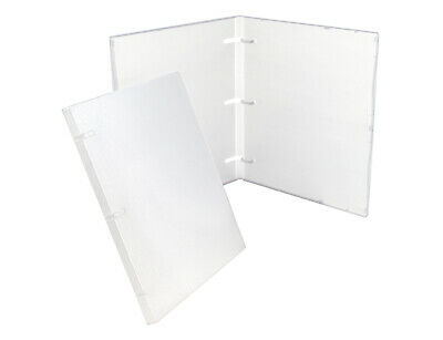 UniKeep 3 Ring Binder - Clear - 0.50 Inch Spine - No Overlay - Box of 36