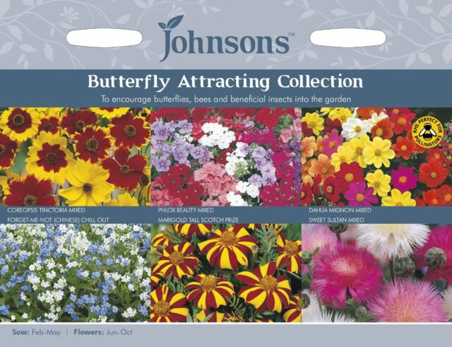 Johnsons Seeds Butterfly Attracting Collection Seed
