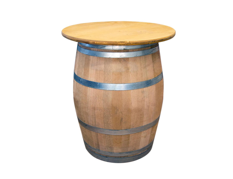 Holzfass, Fass mit Tischplatte, Gartenmöbel Weinfass Weinkeller Stehtisch D 80cm