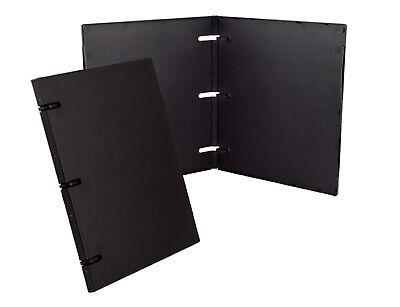 UniKeep 3 Ring Binder - Black - 0.5 Inch Spine - w/ Overlay - Box of 36