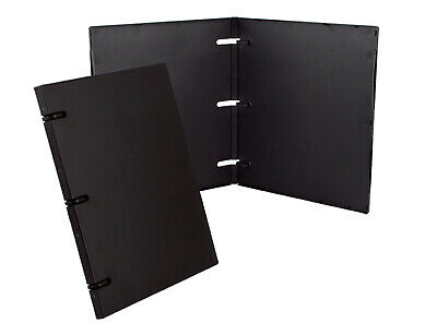 3 Ring Case Binder - .50 Inches - 3 Pack Black - Without Clear Outer Overlay