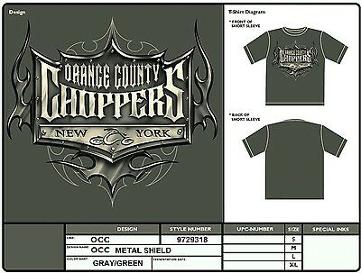 Orange County Choppers Metal Shield T Shirt Occ Authentic Licensed Wholesale Xl