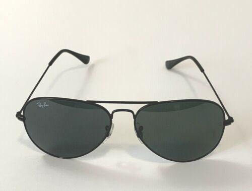 Ray-Ban Aviator Classic RB3025 002/62 Black Sunglasses Grey Lens 58mm
