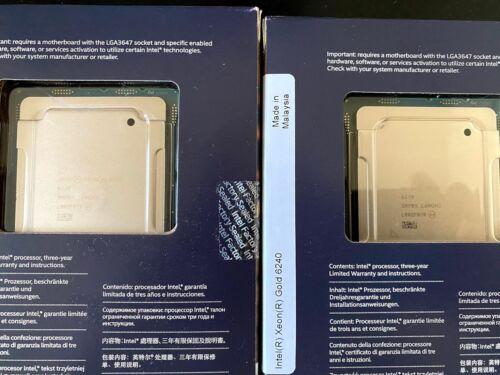 Intel Xeon Gold 6240 2.6GHz 18-Core CPU - BOX - SRF8X - Brand New Factory Sealed