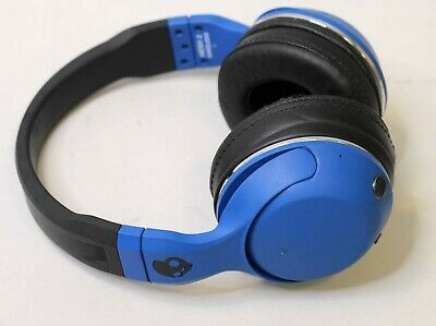 SKULLCANDY HESH 2 WIRELESS OVER-EAR BLUETOOTH HEADPHONES - BLUE/BLACK FAIR COND.