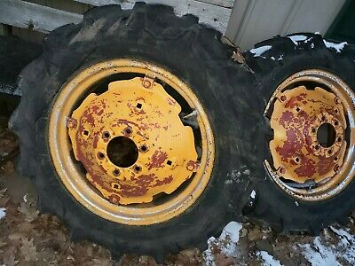 Bf Avery A Tractor Rear Firestone Tires Rims 6 Bolt Centers 11.2x24 Clean Rims