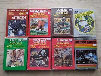 Atari 2600 Boxed Games Bundle. 8 x Boxed Untested Atari Games. FREE UK POSTAGE.