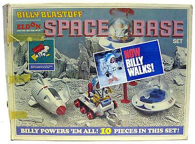 Vintage 1970 Eldon Walking Billy Blastoff Space Base Rocket Set w/Box Works