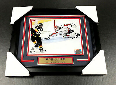 Braden Holtby The Save Washington Capitals 8X10 Framed  1 2018 Stanley Cup