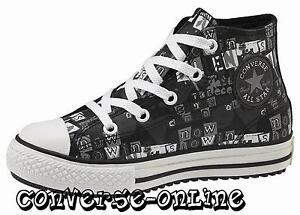 KID-Boy-Girl-CONVERSE-All-Star-BLACK-LEATHER-MID-HI-TOP-Boots-Trainer-SIZE-UK-12