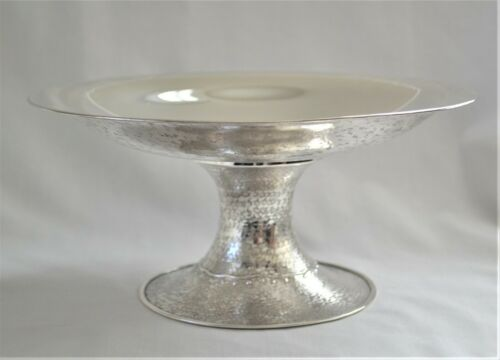 Antique Japanese Arts Crafts Hand-Wrought Pure Sterling Silver Tazza Kyoto 1927