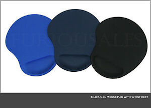 Silica Gel Mouse Pad with Wrist rest Comfort  for PC Laptop Mac Optical Mouse