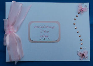 Personalised-White-Pearl-Butterfly-Wedding-or-Birthday-Photo-Album-or-Guest-Book
