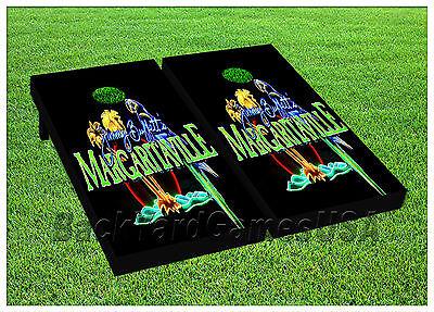 CORNHOLE BEANBAG TOSS GAME w Bags Game Boards Boardwalk Beach Fireworks Set 1132