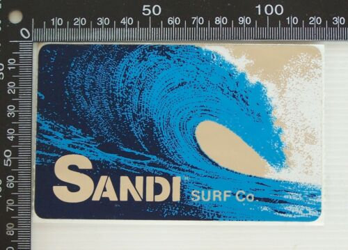 VINTAGE SANDI SURF CO AUSTRALIA SOUVENIR ADVERTISING SURFING SHOP PROMO STICKER
