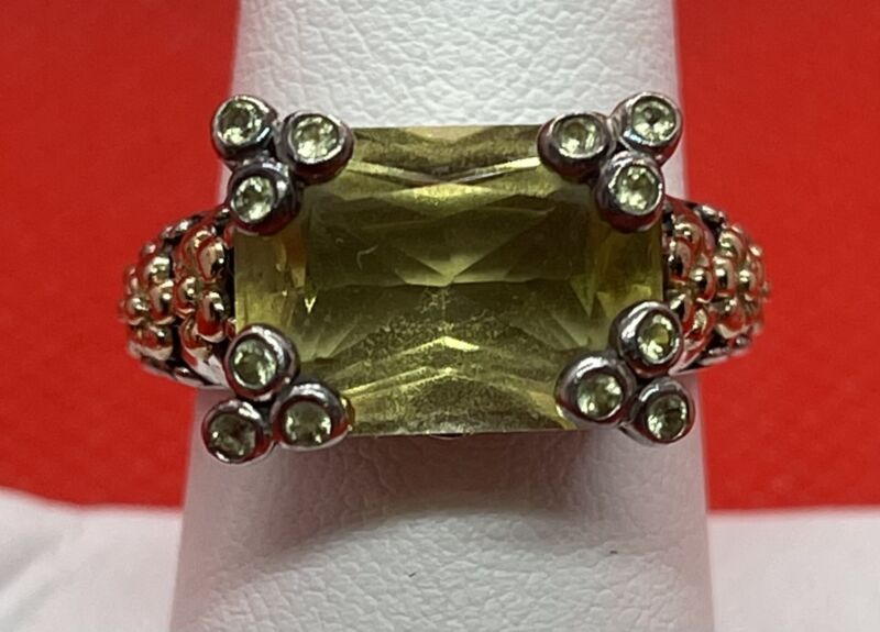 NF Sterling 14K Ring Citrine Size 7.75
