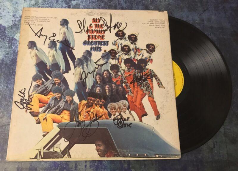 GFA Rare Band x7 * SLY AND THE FAMILY STONE * Signed Vinyl Record Album AD3 COA