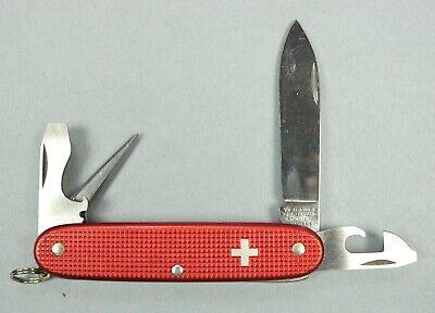Vintage Victorinox Red Alox Old Cross Pioneer Soldier Swiss Army Knife