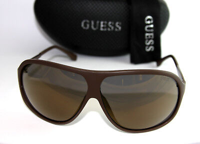 Genuine GUESS GU6828-MBRN-6F Men's Aviator Sunglasses Mirrored Lens BROWN NEW!