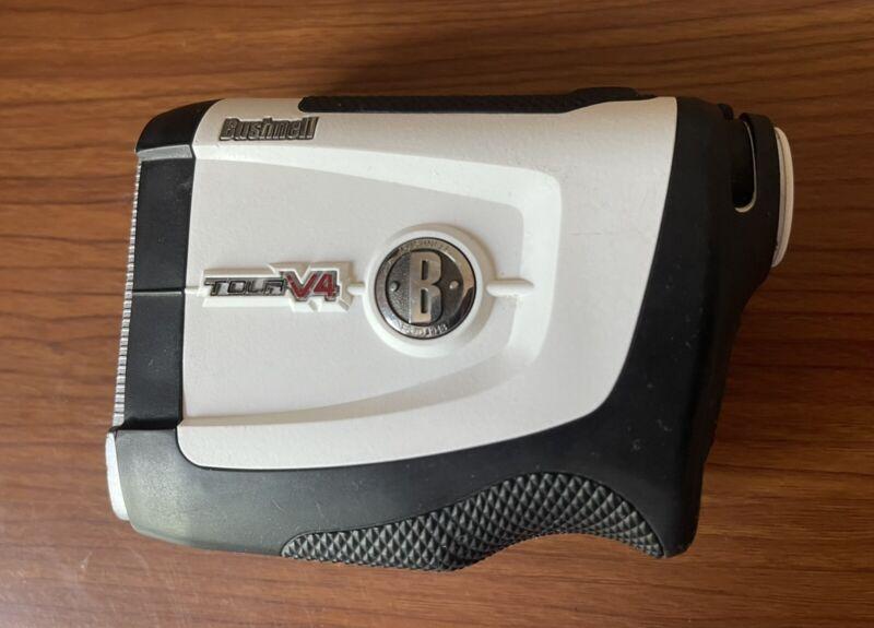Bushnell Tour V4 Laser Golf Rangefinder With Silicone Used Excellent Cover