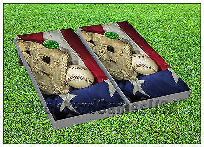 Baseball Bean Bag Board - VINYL Baseball Americas Favourite Sport WRAPS CORNHOLE BEANBAG Boards 979