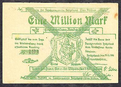 Helgoland -Landgemeinde- 1 Million Mark vom 24.08.1923