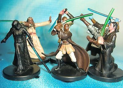 Star Wars Miniatures Lot  Barriss Offee Stass Allie Shado Vao !!  s97