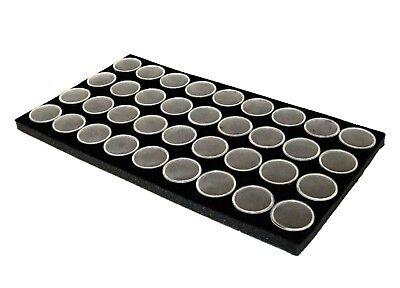 Gem Jar Tray Insert With 36 Medium Size Jars Black