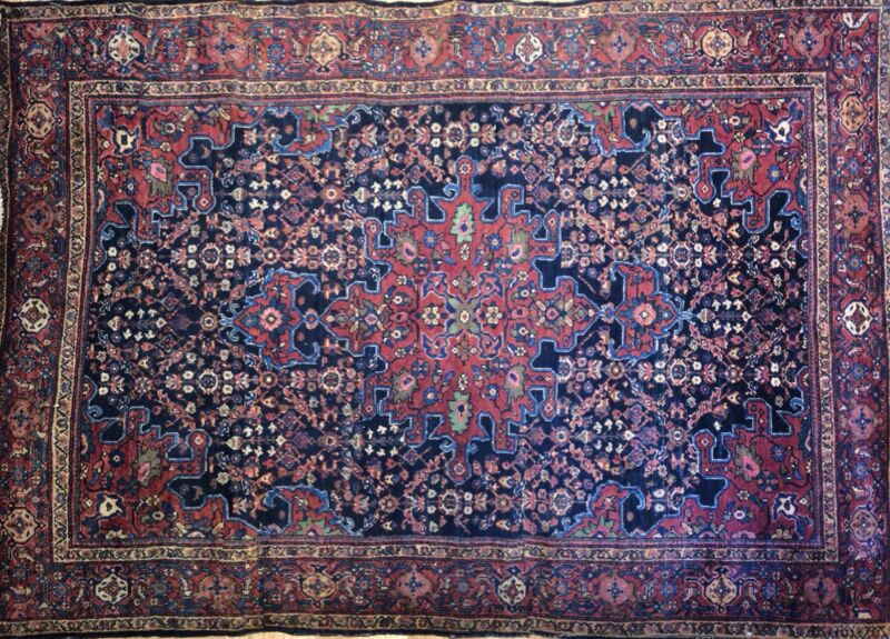 Tremendous Tribal - 1920s Antique Oriental Rug - Nomadic Carpet - 4.5 X 6.5 Ft.