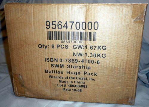 Star Wars MINIATURES x1 CASE Starship Battles SEALED Case (x6 HUGE packs)
