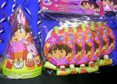 Dora The Explorer Star Catcher 8 Hats & 8 Dora The Explorer Blowouts  ()