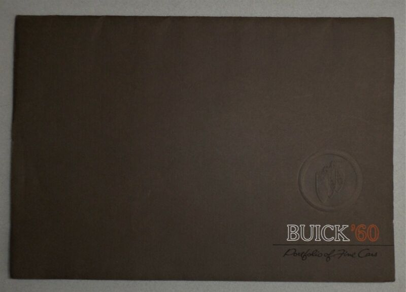 1960 BUICK LARGE PORTFOLIO with 6 SALES FOLDERS