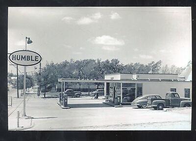 Купить REAL PHOTO SNYDER TEXAS HUMBLE SERVICE GAS STATION POSTCARD COPY OLD CARS