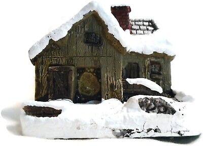 American Rustic Christmas Blacksmith Shop RSVP Vintage Miniature Cottage w/ Box