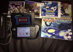 Nintendo 3ds Xl with 3 games and accessories $200 firm