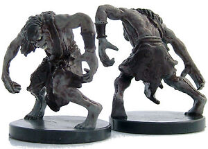 D&D mini ZOMBIE X2 (Undead) Curse of Undeath #11-12 Dungeons & Dragons Miniature