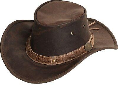 Scippis Hut Westernhut Cowboyhut KANGAROO SUNDOWNER Lederhut Brown Braun NEU