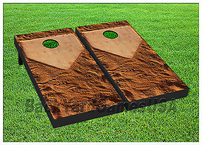 Baseball Bean Bag Board - Cornhole Get it to Home Plate Baseball Boards BEANBAG TOSS GAME w Bags Set 1346