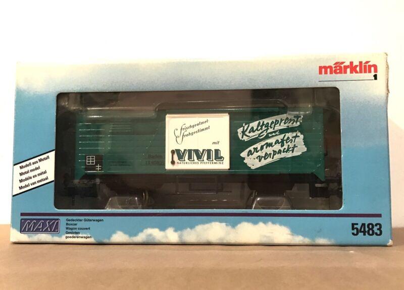 Märklin Marklin 1 Gauge 5483 MAXI METAL VIVIL BOXCAR WAGON